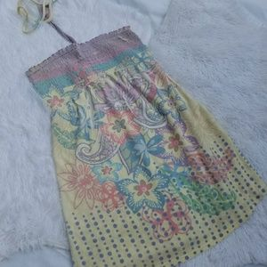 Swimsuit Cover-up Pastel Floral Terrycloth
